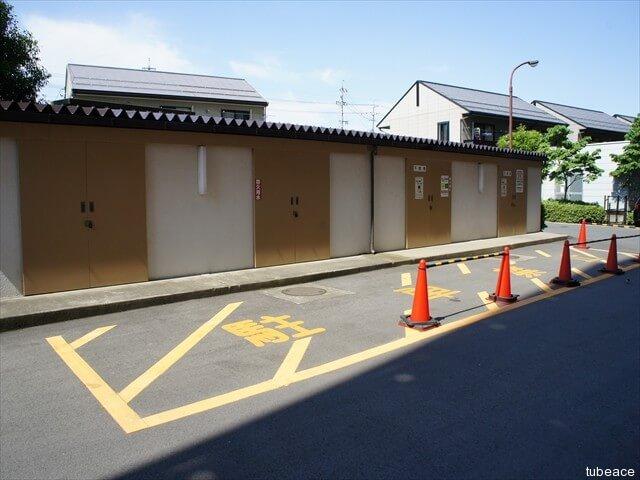 敷地内ゴミ集積場(整然と管理されています。)