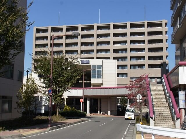 外観・長野電鉄線信濃吉田駅南口から撮影