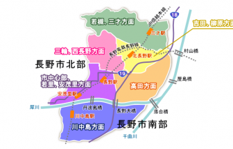 長野市エリア図