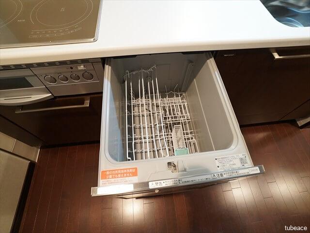 食器洗い乾燥機。手洗いに比べて大幅な節水効果があります。未使用です。