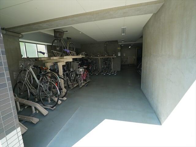 一世帯2台分の駐輪場