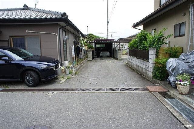 長野市大字小島の売り土地、西側共用通路部分