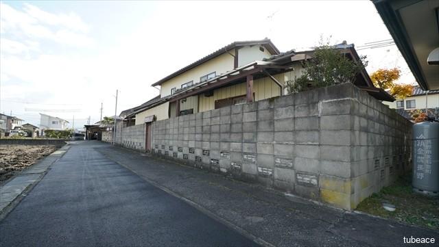 長野市大字小島の売り土地、北西から撮影