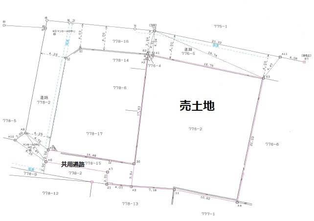 小島売土地実測図