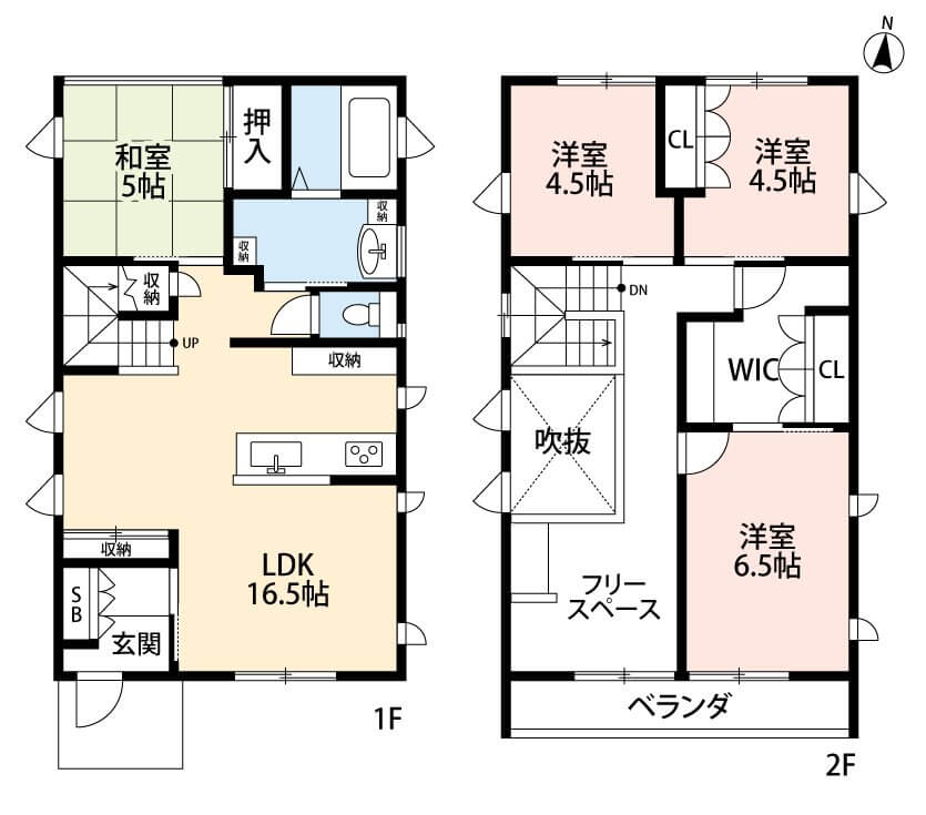 長野市川中島町上氷鉋・リフォーム済住宅の間取図