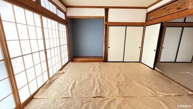 1階 和室8帖 和室はお子様のお昼寝やキッズスペースにも利用可能です。