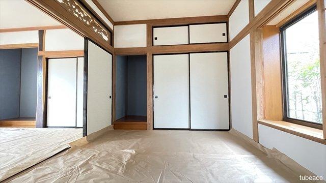 1階 和室6帖 全居室に収納スペースがあり室内を有効活用できます。