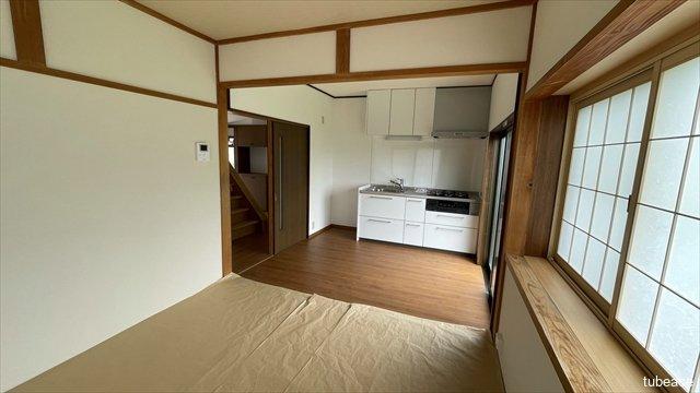 ダイニングキッチンと約4.5帖の和室をつなげてより広々とした空間を作ることもできます。