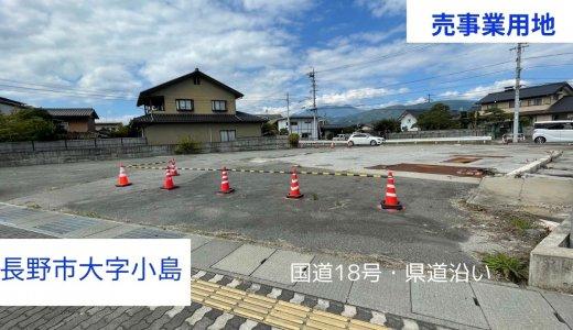 長野市大字小島【売土地】国道18号と県道に面する事業用地、柳原駅まで約720m